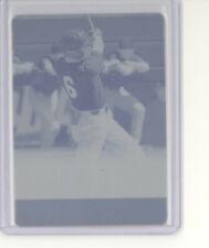 Jonathan India 1/1 cyan printing plate card 2018 Leaf Ultimate 1991 NM Reds