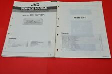 Original Service Manual and Parts List JVC RX-1001VBK Receiver (English)!