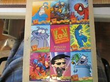 1995 Fleer Ultra Fox Kids Network 9 Card Promo Sheet Spider-Man Wolverine