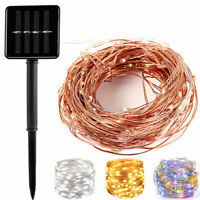 20M 200LED Solar Power Fairy Lights String Lamps 8 Modes Wedding Outdoor Decors