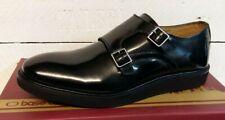 Men's Base London Nova Black High Shine Monk Strap Shoes