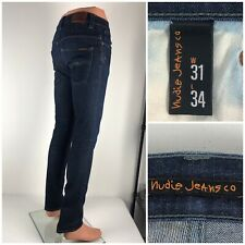 Nudie Jeans Mens 31 X 34 Slim Fit Thin Finn Organic Cotton Stretch Faded Italy