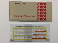 Vintage 1970s TWA Airlines Getaway Vacations Moneyminder Currency Converter 70s
