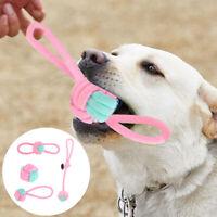 KQ_ 4Pcs/Set Pet Dog Puppy Cotton Rope Knot Playing Ball Chew Bite Interactive T