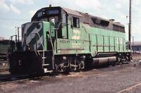 BURLINGTON NORTHERN Railroad Locomotive BN 2502 Original 1981 Photo Slide