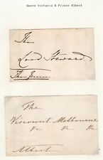 More details for written/signed envelope fronts lord steward the queen viscount melbourne albert