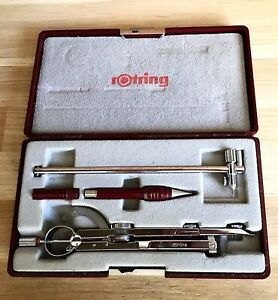 Rotring Chrome Plated Master Bow Compass Set