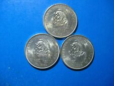 MEXICO 5 PESOS .720 SILVER 1951-2-3 ONE OF EACH DATE CHOICE UNC 3 TOTAL COINS