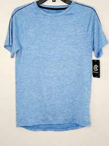 Champion C9 Boys' Blue Heather Cloud Knit Breathable Stretch Athletic Tee New