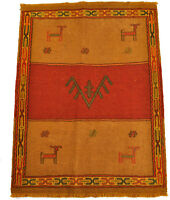 nouveau Kelim Qouchan 109 x 84 cm tapis kilim laine Nomad carpette tribale