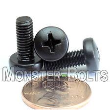 M5 x 12mm - Qty 10 - Phillips Pan Head Machine Screws - DIN 7985 A - Black Steel