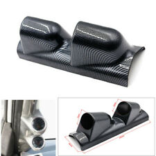 "1PC 2"" Dual Gauge Cover Mount Holder Carbon Fiber Look ABS Car SUV Pickup Truck"