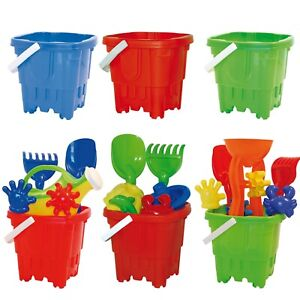 Kids Plastic Castle Mould Beach Bucket Sandbox Spade Summer Outdoor Toy Set