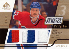 08-09 SP Game Used Triple Fabrics JERSEY xx/25 Made! Rod LANGWAY - Canadiens