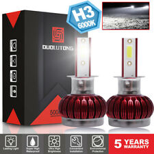 Mini H3 Headlight LED Bulbs Foglight Front Light 6000K White Lamp 1800W 45000LM