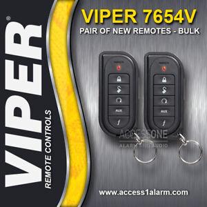 Pair of NEW Viper 7654V 1-Way Remote Controls - Bulk Packaging