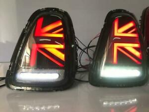 For BMW MINI Tail Lights 2007-2010 R56 R57 R58 R59 Black Rear Lamp Assembly