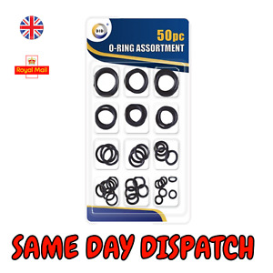 50pc Assorted O RING SET Black Rubber Seals Sink Tap Washers Plumbing Air Gas UK