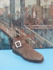 Arche Made in France Brown Nubuck Leather Back  Zipper Boots 40 9.5