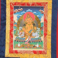 Tibetan Buddha Print Cloth Gild Thangka Buddhist Thanka Wealth God Decors New
