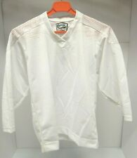 Aaron Sportswear White Polyester Blend Youth S-M Ice Hockey Practice Jersey