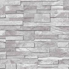 Grandeco piedra Patrón de papel tapiz efecto Imitación realista moderno
