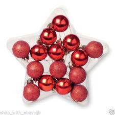 Adornos de color principal rojo de bola para árbol de Navidad