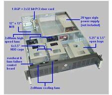 """NEW 2U 19"""" rackmount case, fits full-size ATX M/B, 24""""D (7235)"""