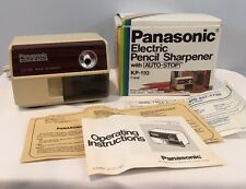 VTG Panasonic KP-110 Electric Pencil Sharpener In Original Box Barely Used Japan