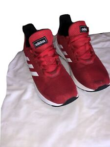 Boys Red Mesh Trainers Size 4 By ADIDAS