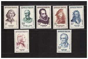 s23364) FRANCE 1957 MNH** Nuovi** Famous persons 7v Y&T 1132/38