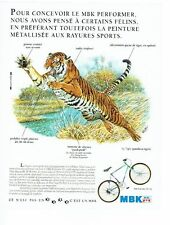 PUBLICITE ADVERTISING 017  1990  MBK  vélo Performer mt 352 Tigre