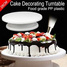 "11"" Cake Decorating Turn Table Cake Icing Piping Stand Baking Tool Platform"