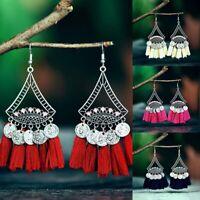 Earrings Jewelry Stud Women Tassel Fashion Long Boho Drop Dangle Fringe