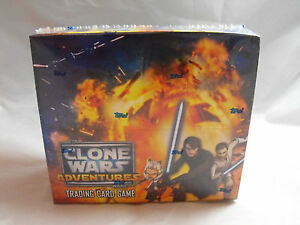 STAR WARS CLONE WARS ADVENTURES TCG SEALED BOOSTER PACK BOX OF 24