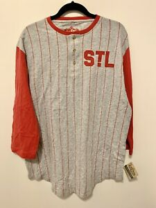 Red Jacket MLB St. Louis STL Raglan Gray Red Size XXL