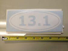 13.1 WHITE sticker decal Car window half marathon running runner bumper inshape
