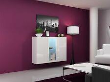 Buffet hängesideboard de Lugo » 120x38x90 cm blanc HGL avec LED