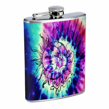 Tie Dye Em1 Flask 8oz Stainless Steel Hip Drinking Whiskey