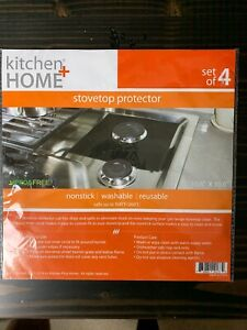 Kitchen + Home StoveTop Protectors - Black  Set Of 4 Covers