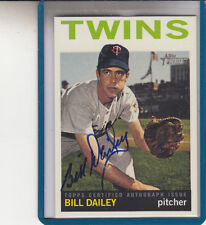 "2013 TOPPS HERITAGE BILL DAILEY ""INDIANS/TWINS"" AUTOGRAPH AUTO"