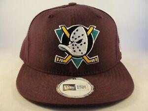 Anaheim Ducks NHL New Era Vintage Fitted Hat Cap Size 6 3/4 Plum