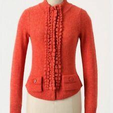 Anthropologie Moth Orange Wool Cardigan Medium
