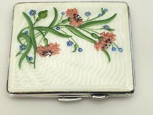 Antique Enamel Silver Plate Cigarette Case Joseph Gloster