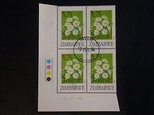 Zimbabwe 1994 Flower Control Block Cancelled - Very Scarce - Chrysanthemum