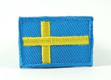 SWEDEN SWEDISH NATIONAL COUNTRY FLAG MEDIUM IRON/SEW ON PATCH APPLIQUE