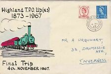 highland t.p.o. up (n.s) 1873 - 1967 final train trip  stamp cover  ref r12754