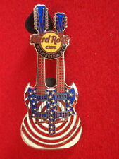 HRC hard rock cafe washington Stars and Stripes series 2007 Double Neck Guitar L