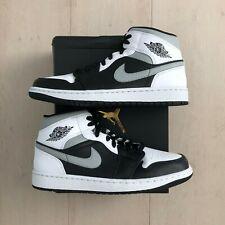 Nike Air Jordan 1 Mid schwarz / weiß / smoke grey / grau (554724 073) NEW !!