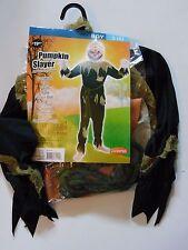 Boy Size 6 S Pumpkin Slayer Halloween Costume Decoration
